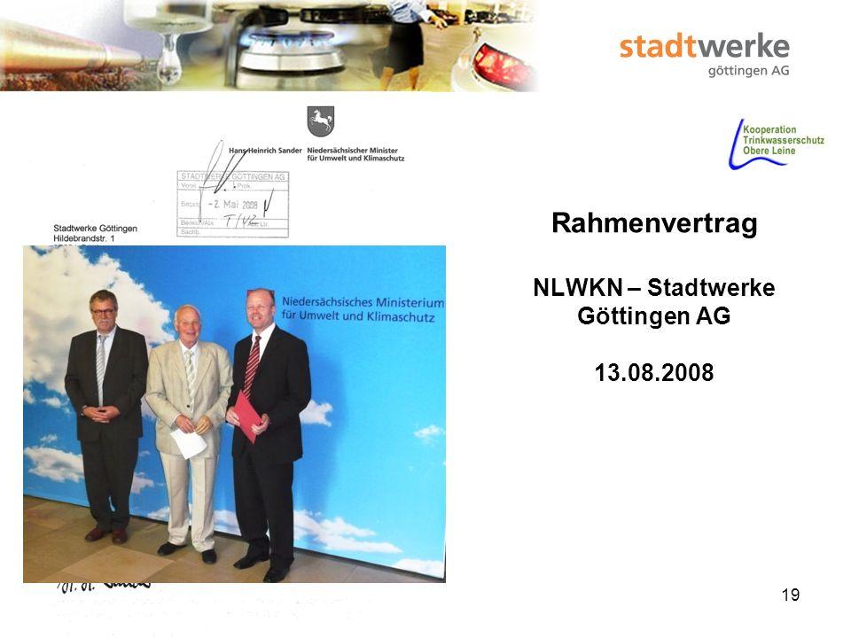 Rahmenvertrag NLWKN – Stadtwerke Göttingen AG 13.08.2008