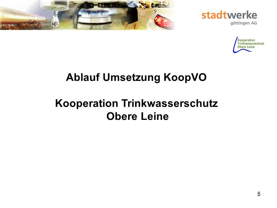 Ablauf Umsetzung KoopVO Kooperation Trinkwasserschutz Obere Leine