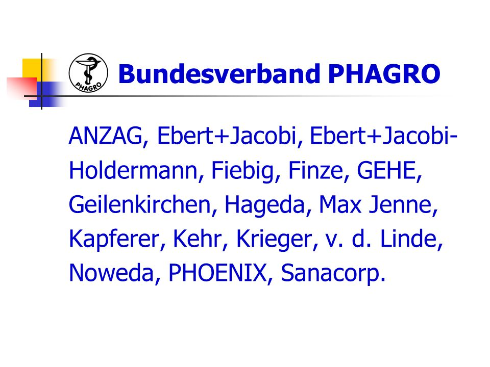 Bundesverband PHAGRO ANZAG, Ebert+Jacobi, Ebert+Jacobi-
