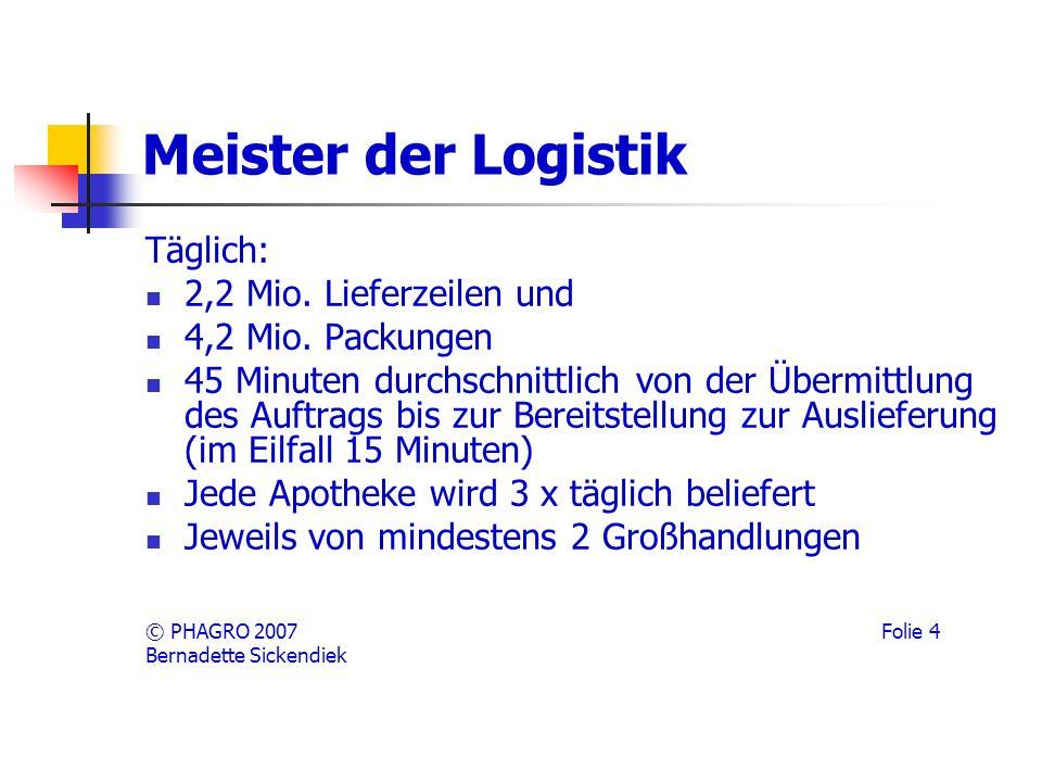 Meister der Logistik Täglich: 2,2 Mio. Lieferzeilen und