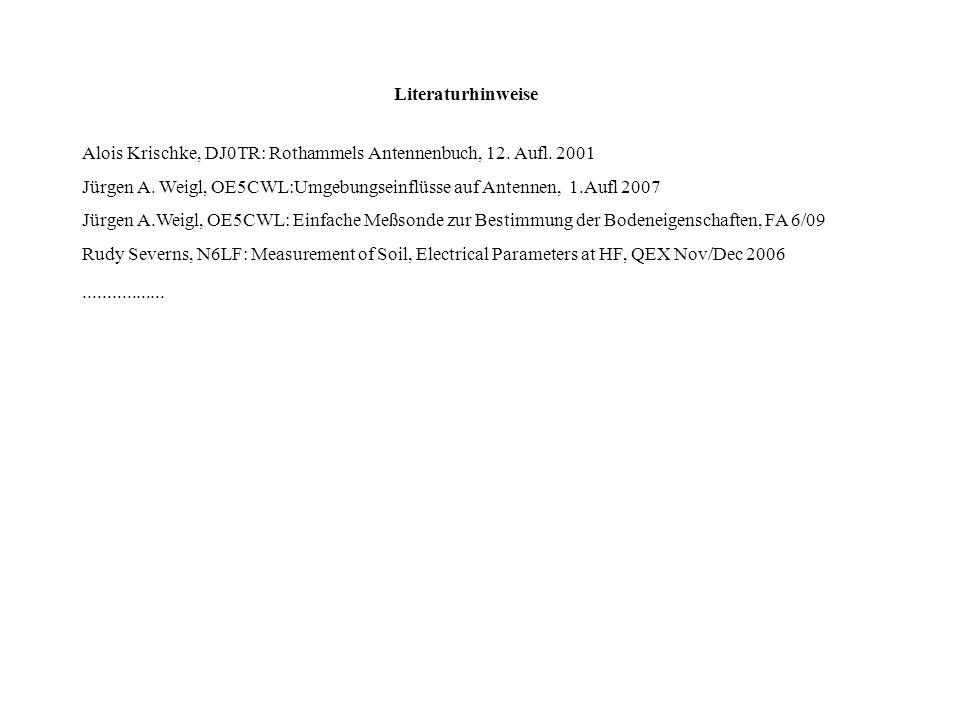 Literaturhinweise Alois Krischke, DJ0TR: Rothammels Antennenbuch, 12. Aufl. 2001.