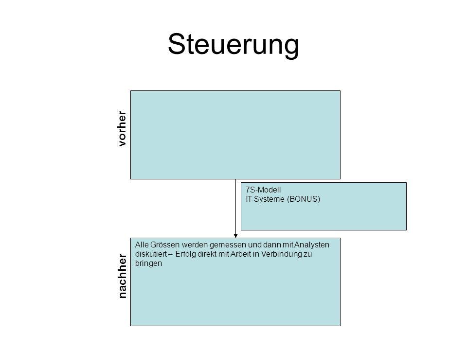Steuerung vorher nachher 7S-Modell IT-Systeme (BONUS)