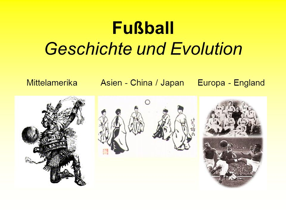 Fußball Geschichte und Evolution