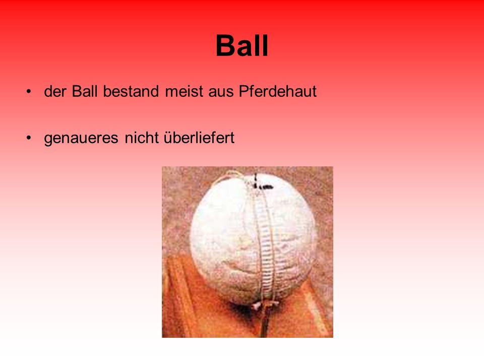Ball der Ball bestand meist aus Pferdehaut genaueres nicht überliefert