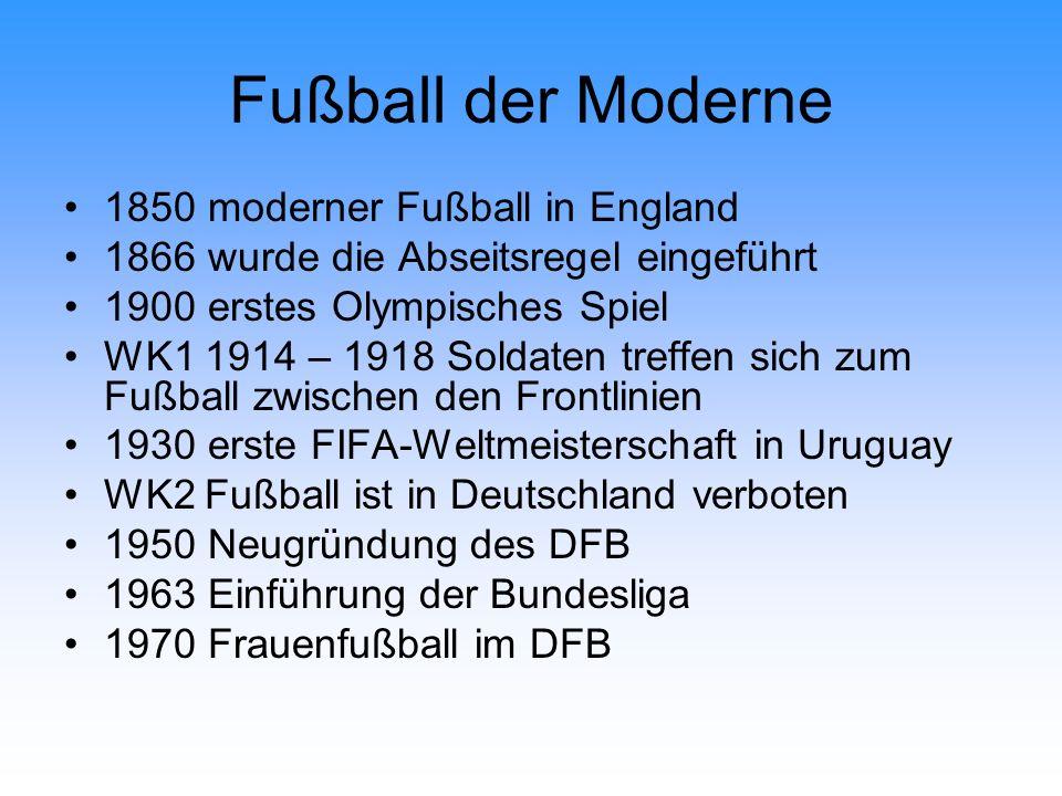 Fußball der Moderne 1850 moderner Fußball in England