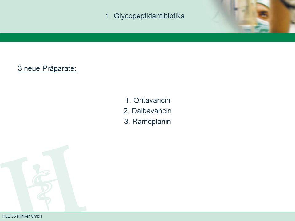 1. Glycopeptidantibiotika