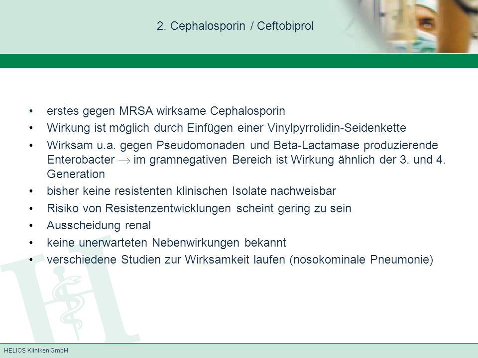 2. Cephalosporin / Ceftobiprol