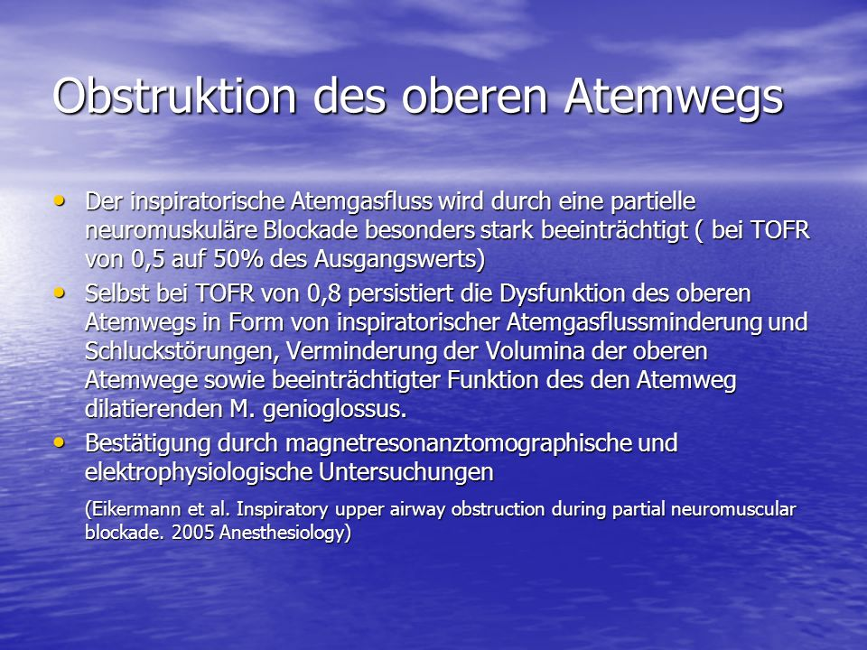 Obstruktion des oberen Atemwegs