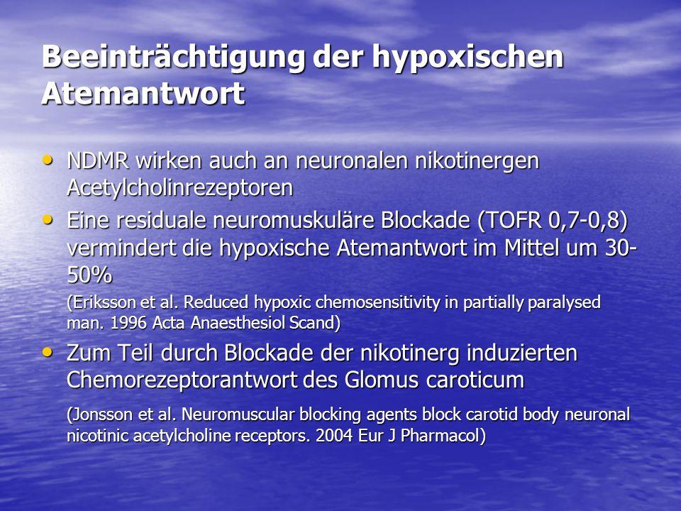 Beeinträchtigung der hypoxischen Atemantwort