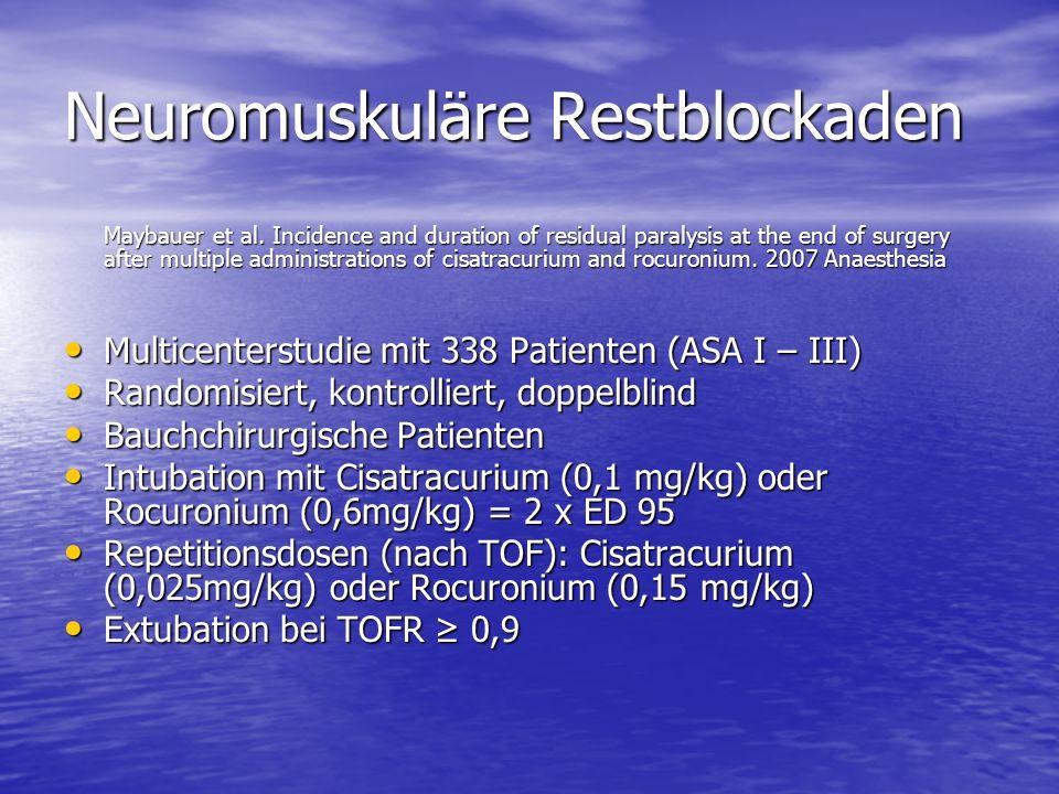 Neuromuskuläre Restblockaden