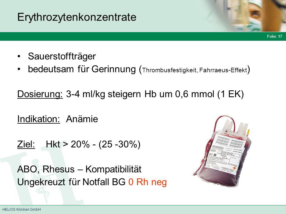 Erythrozytenkonzentrate