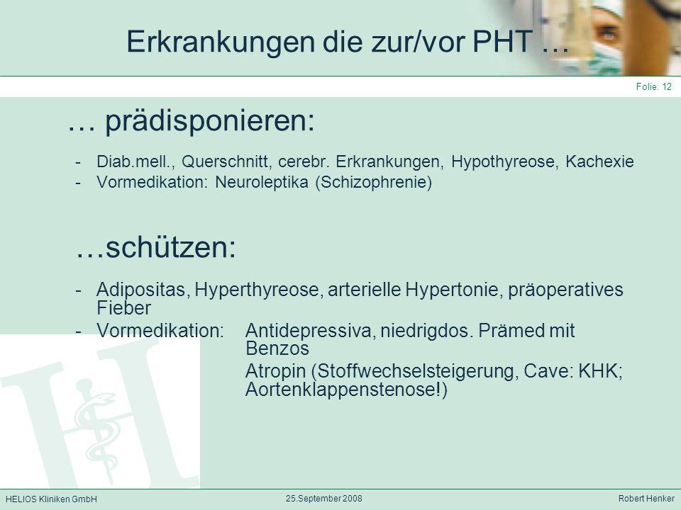 Erkrankungen die zur/vor PHT …