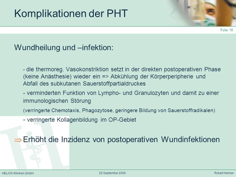 Komplikationen der PHT