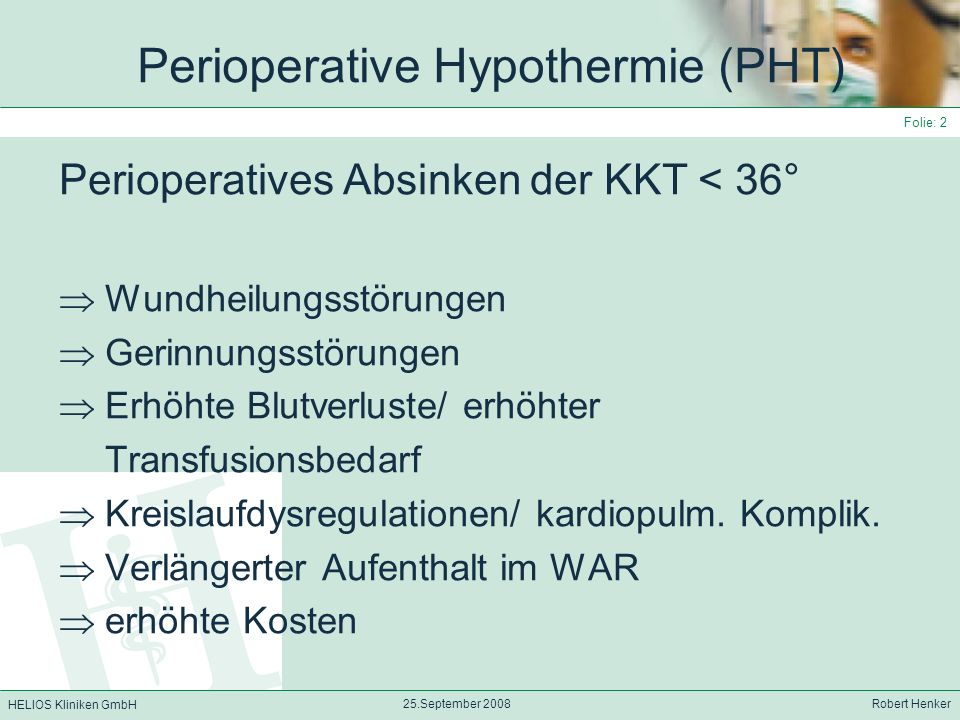 Perioperative Hypothermie (PHT)