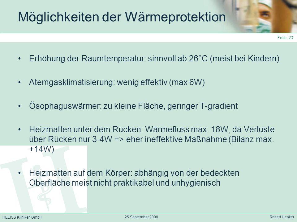 Möglichkeiten der Wärmeprotektion