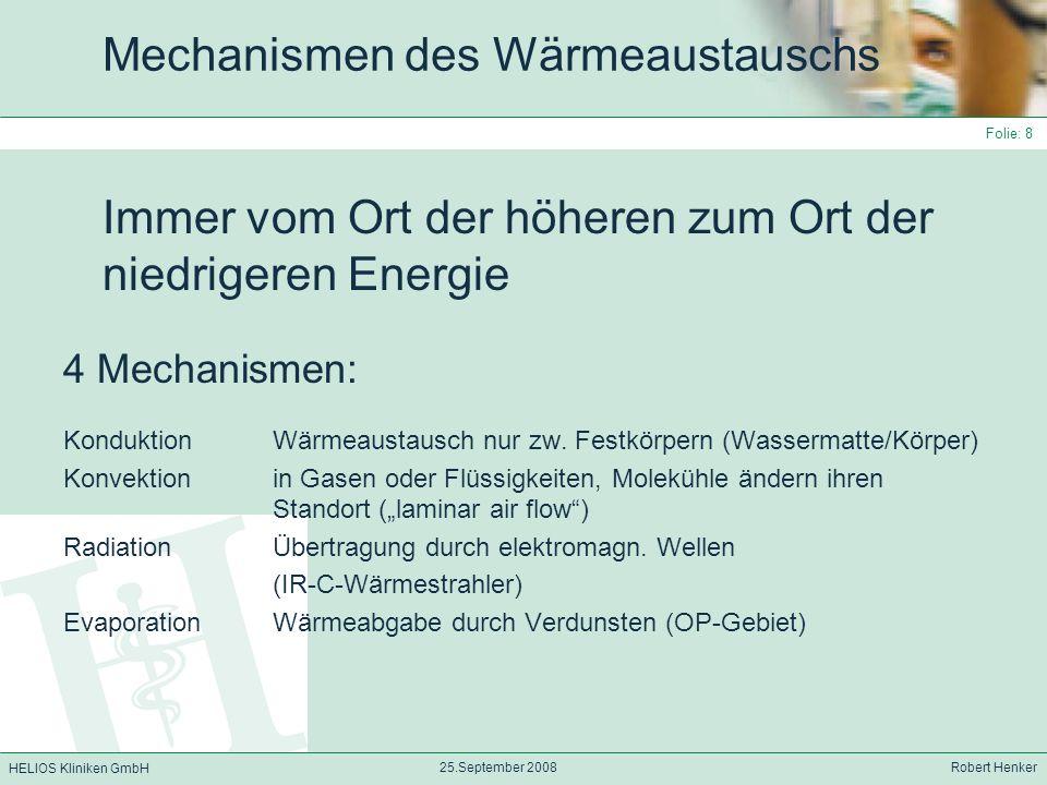 Mechanismen des Wärmeaustauschs