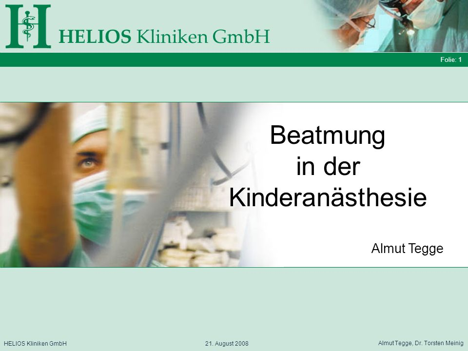 Beatmung in der Kinderanästhesie