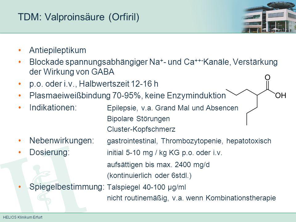 TDM: Valproinsäure (Orfiril)