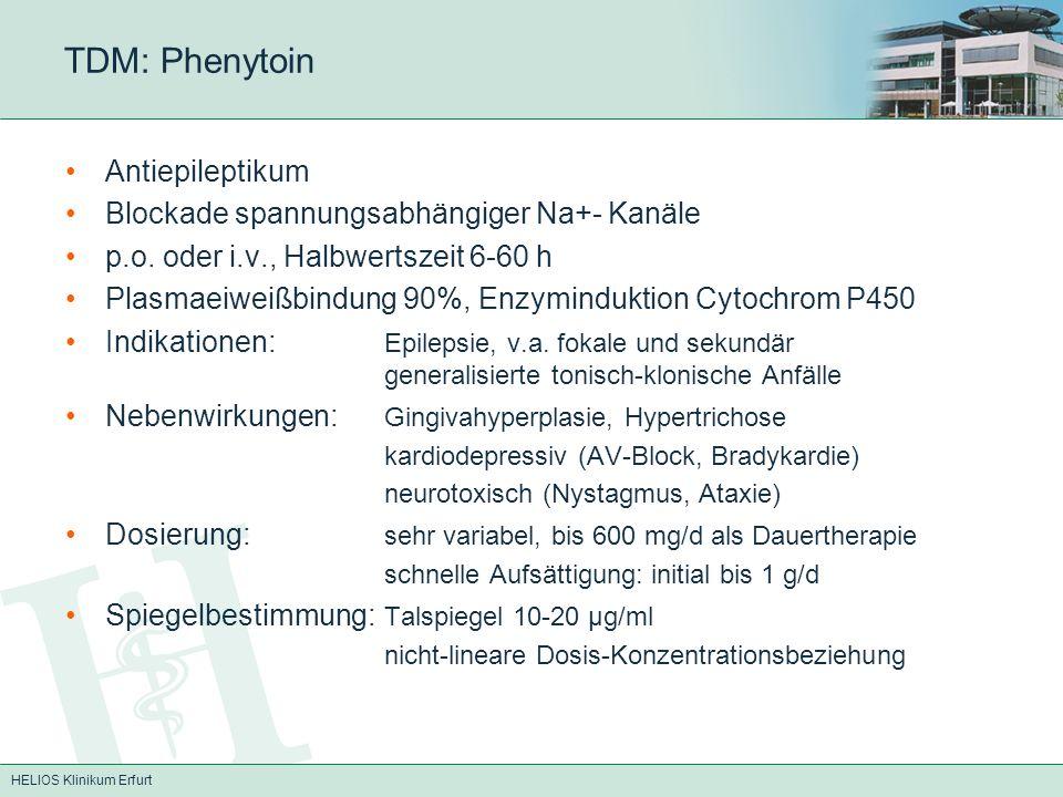 TDM: Phenytoin Antiepileptikum