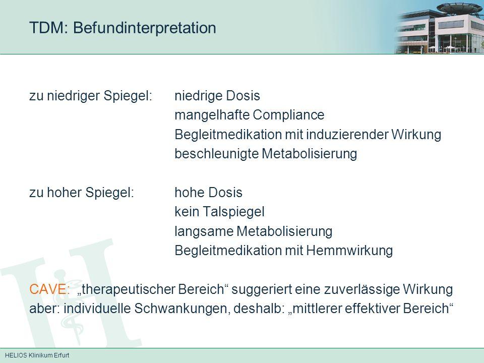 TDM: Befundinterpretation