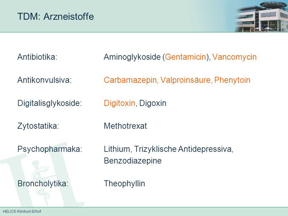 TDM: Arzneistoffe Antibiotika: Aminoglykoside (Gentamicin), Vancomycin