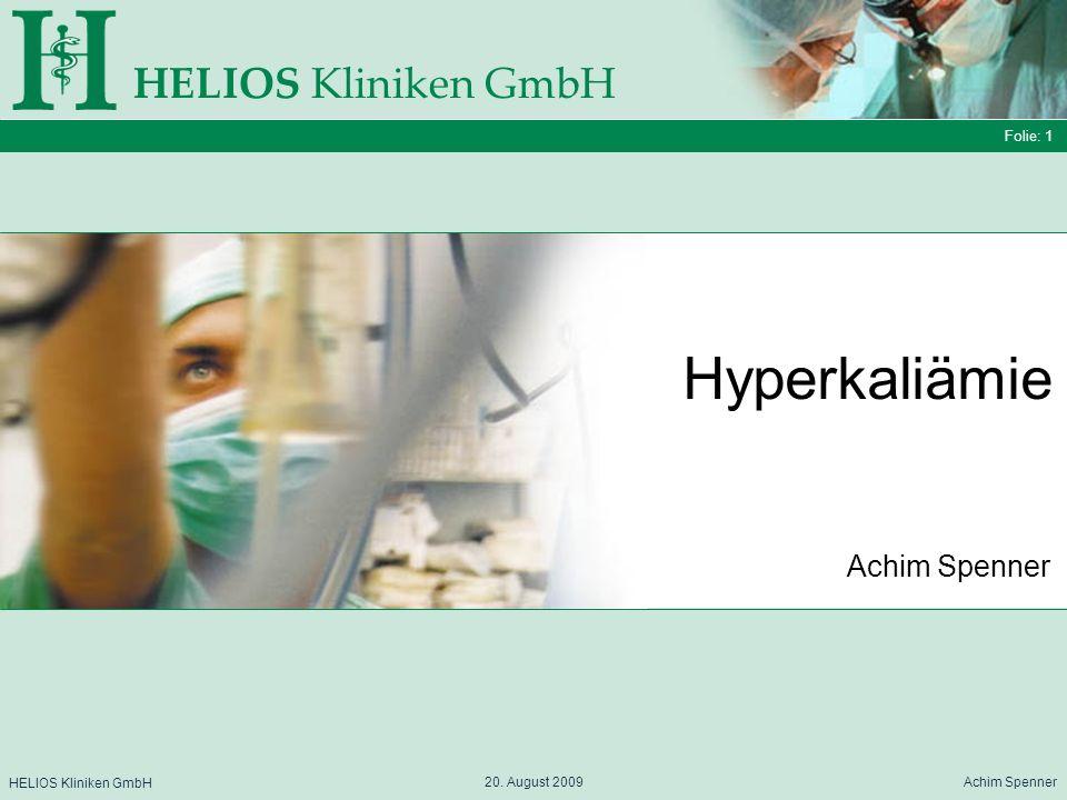 Hyperkaliämie HELIOS Kliniken GmbH Achim Spenner