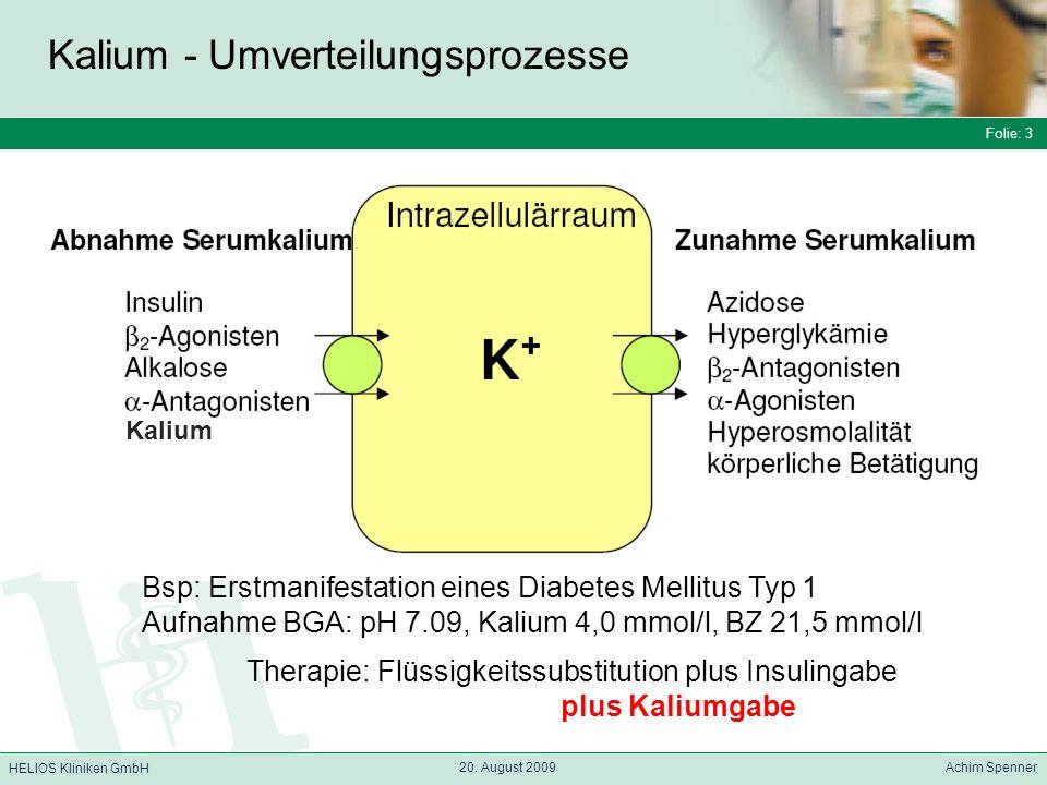 Kalium - Umverteilungsprozesse
