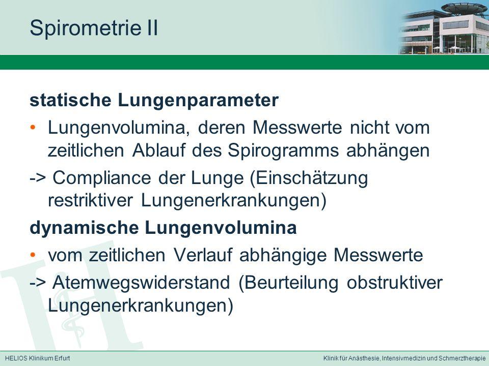 Spirometrie II statische Lungenparameter