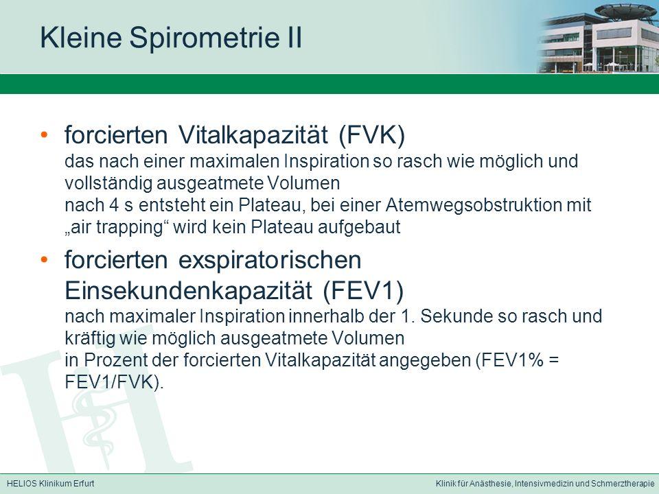Kleine Spirometrie II