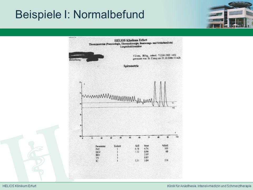 Beispiele I: Normalbefund
