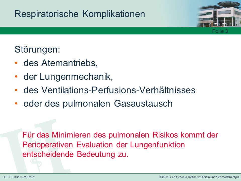 Respiratorische Komplikationen