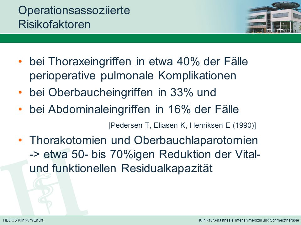 Operationsassoziierte Risikofaktoren