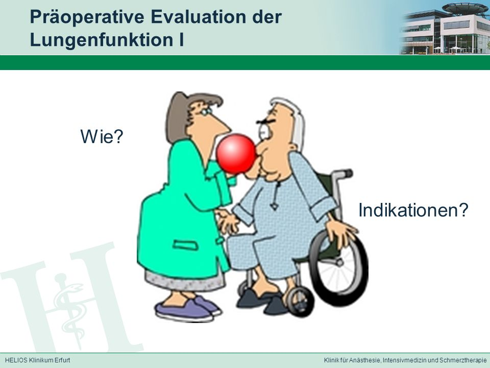 Präoperative Evaluation der Lungenfunktion I