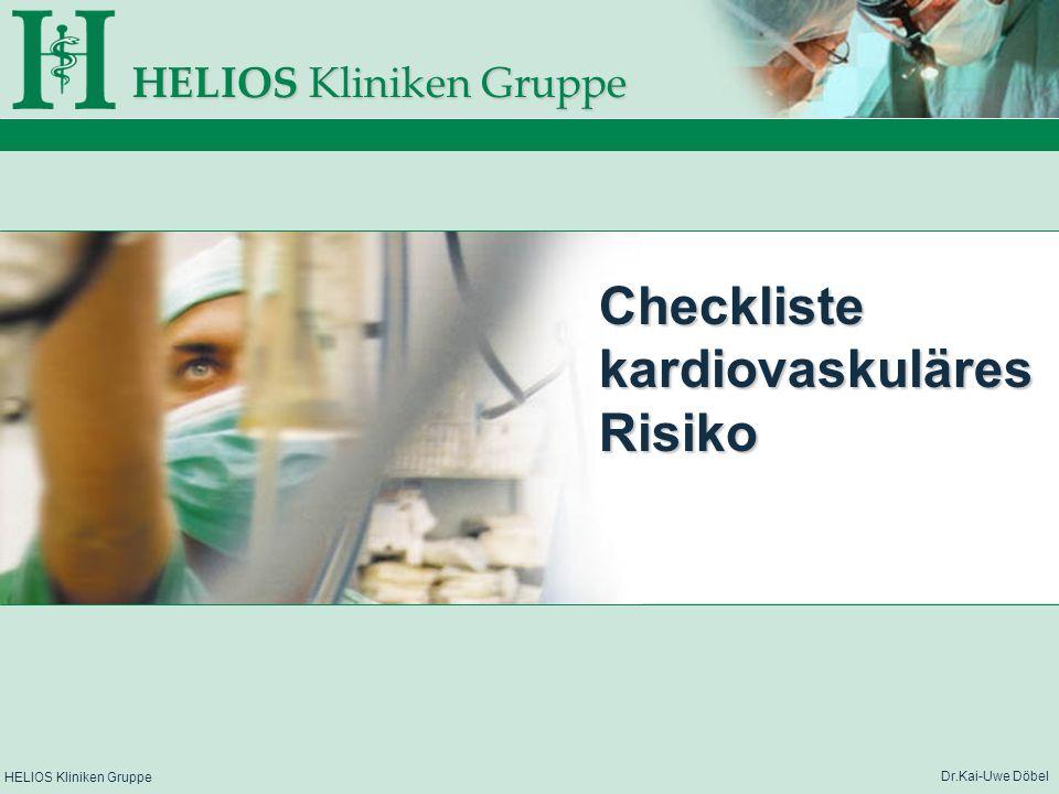 Checkliste kardiovaskuläres Risiko