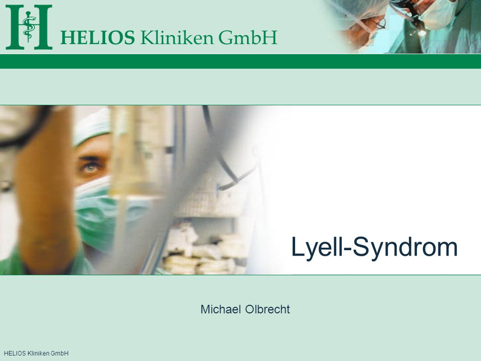 Lyell-Syndrom Michael Olbrecht