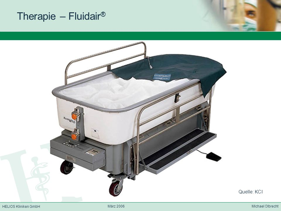 Therapie – Fluidair® Quelle: KCI März 2006 Michael Olbrecht