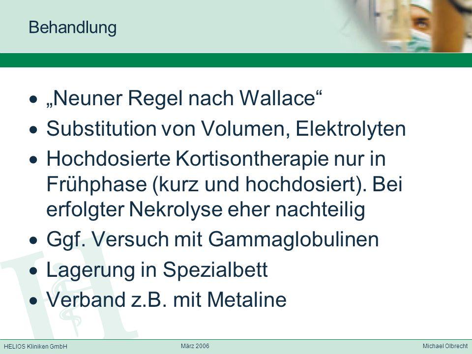 """""""Neuner Regel nach Wallace Substitution von Volumen, Elektrolyten"""