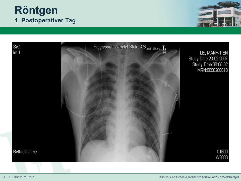 Röntgen 1. Postoperativer Tag