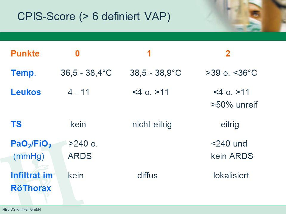 CPIS-Score (> 6 definiert VAP)