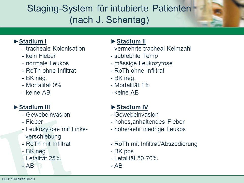 Staging-System für intubierte Patienten (nach J. Schentag)