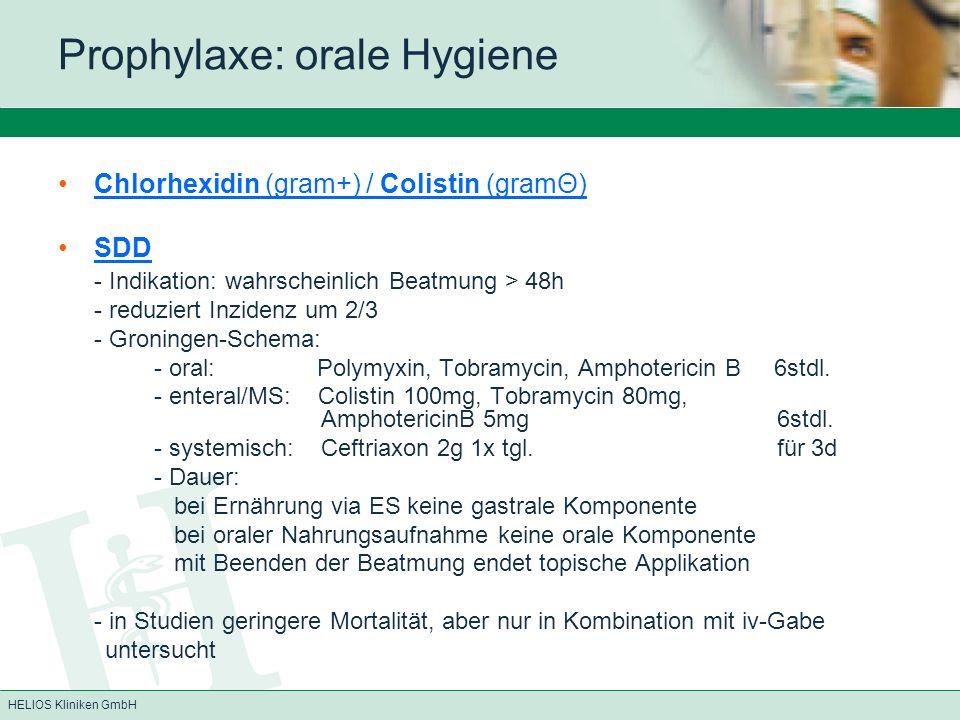 Prophylaxe: orale Hygiene