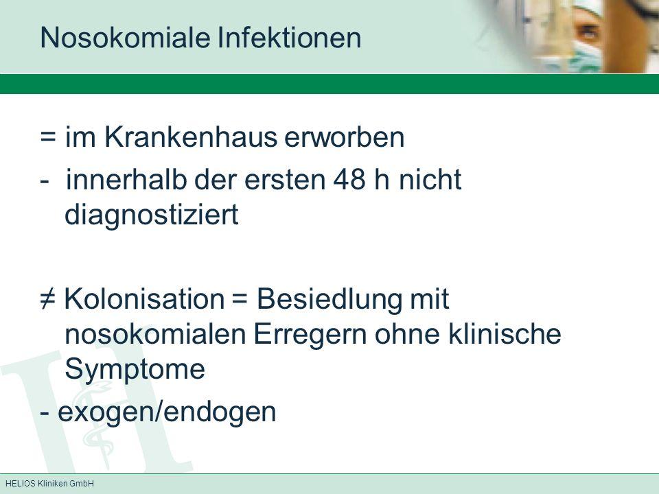 Nosokomiale Infektionen