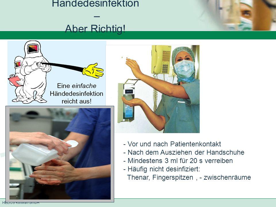 Händedesinfektion – Aber Richtig!