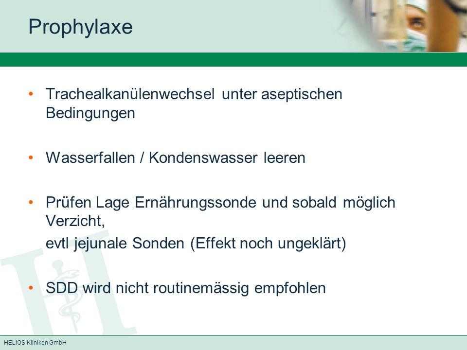 Prophylaxe Trachealkanülenwechsel unter aseptischen Bedingungen