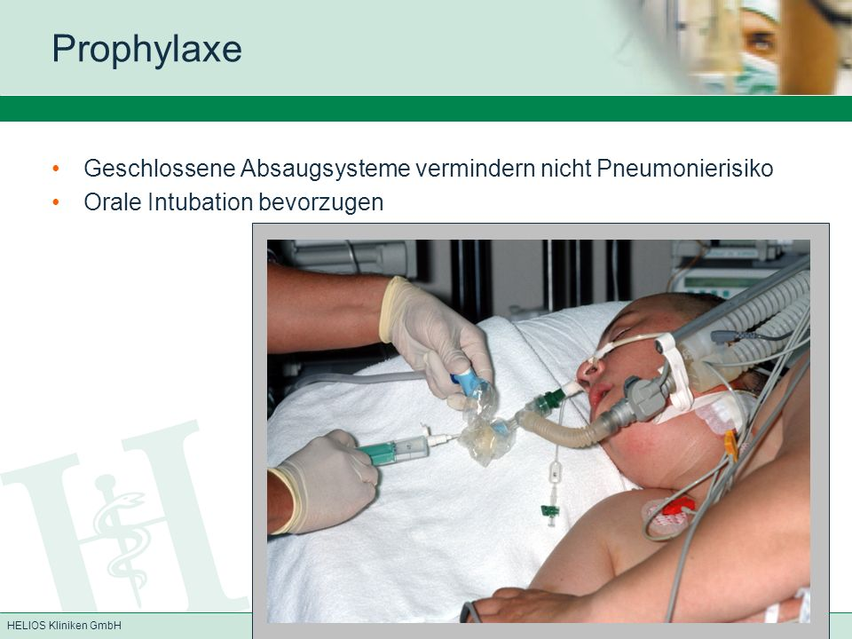 Prophylaxe Geschlossene Absaugsysteme vermindern nicht Pneumonierisiko