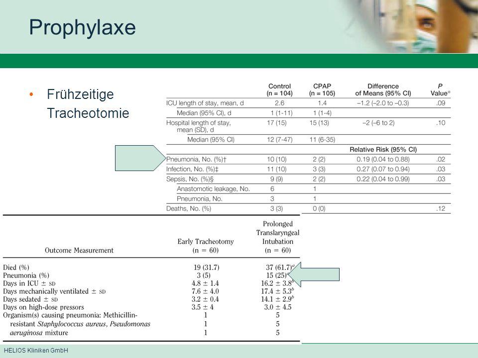 Prophylaxe Frühzeitige Tracheotomie
