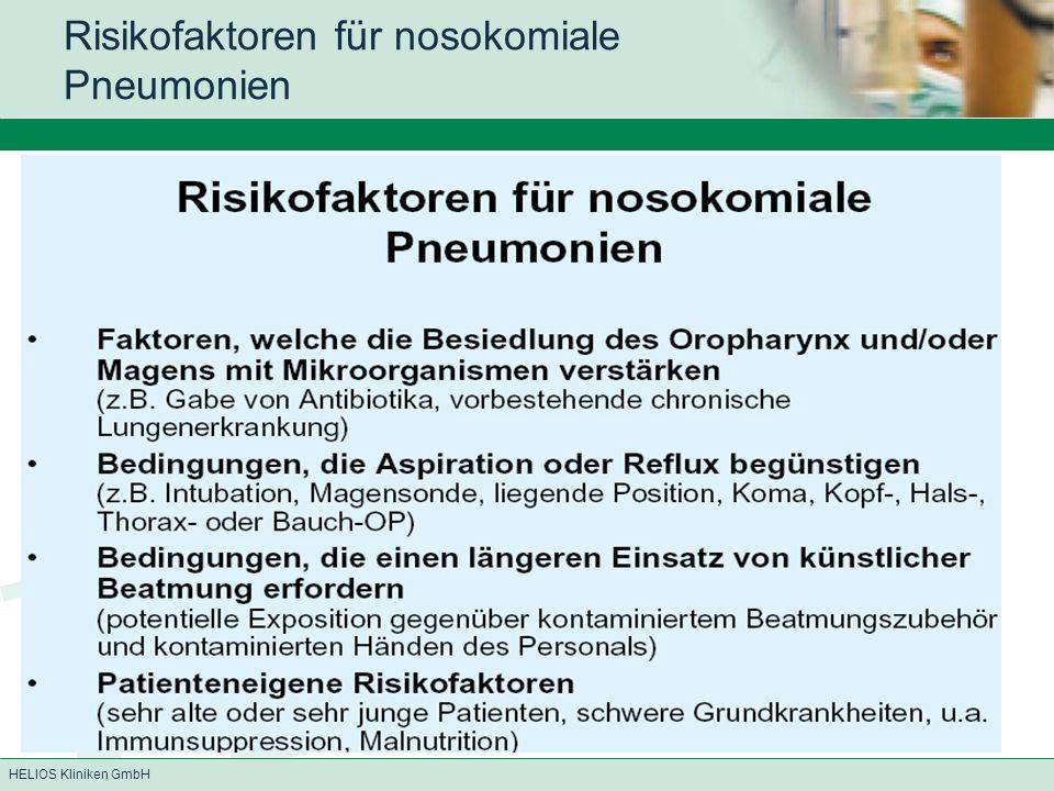 Risikofaktoren für nosokomiale Pneumonien