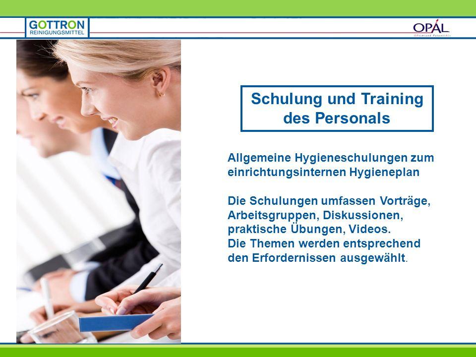 Schulung und Training des Personals