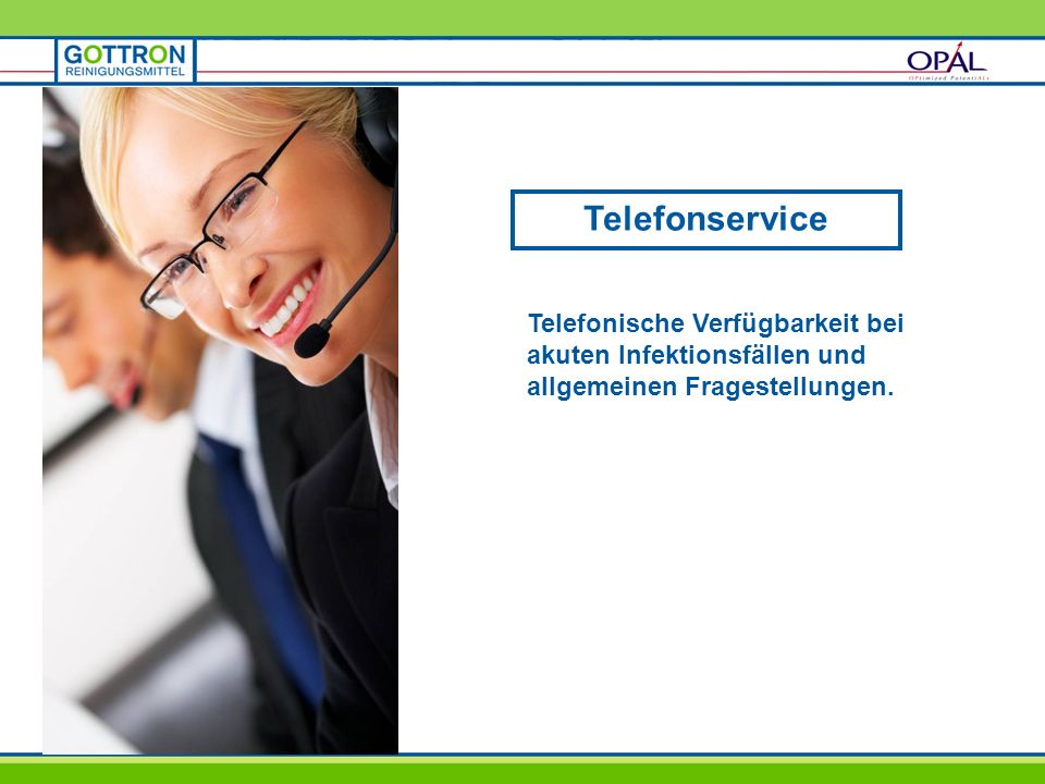 Telefonservice Telefonische Verfügbarkeit bei akuten Infektionsfällen und allgemeinen Fragestellungen.