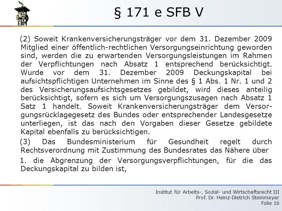 § 171 e SFB V